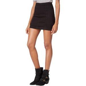 Free People Black Modern Femme Mini Skirt NWT $50